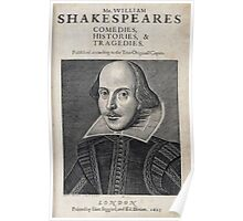 William Shakespeare Portrait Poster
