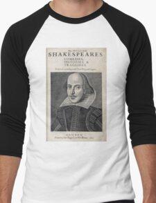 William Shakespeare Portrait Men's Baseball ¾ T-Shirt