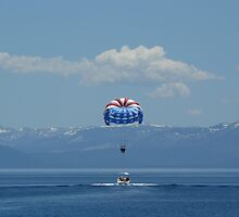 Balloon Sailing (landing) at Lake Tahoe by Kosan