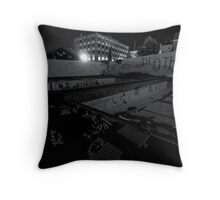 Abandoned Pool Throw Pillow