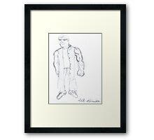 The Agent Framed Print
