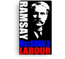 James Ramsay MacDonald, FRS Canvas Print