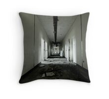 Abandoned Hallway Throw Pillow
