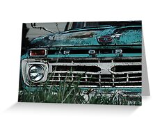 Ford Truck - On the Farm Greeting Card