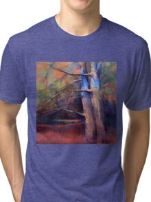 OLD NEIGHBORS ( TREE ) from original pastel painting by Madeleine Kelly Tri-blend T-Shirt