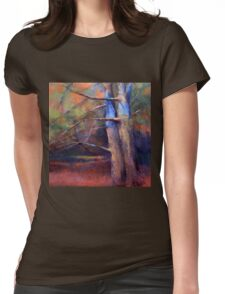OLD NEIGHBORS ( TREE ) from original pastel painting by Madeleine Kelly Womens Fitted T-Shirt