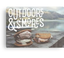 OUTDOORS & S'MORES Canvas Print