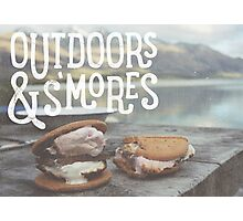 OUTDOORS & S'MORES Photographic Print