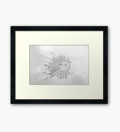 Impact #2 - Black & White Framed Print