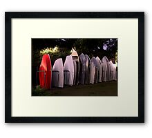 All lined Up And No Place To Go - The HDR Series Framed Print