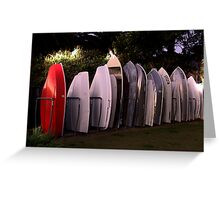 All lined Up And No Place To Go - The HDR Series Greeting Card