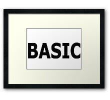 Basic Framed Print
