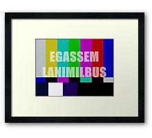 Subliminal Message Television Screen Framed Print