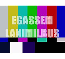 Subliminal Message Television Screen Photographic Print