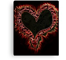 Burning heart Canvas Print