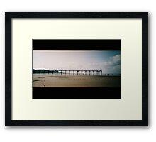 Pier (pano) Framed Print