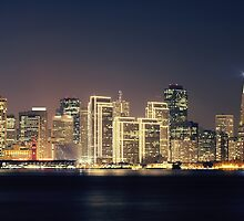 San Francisco Holiday Skyline IV by Jenn Ramirez