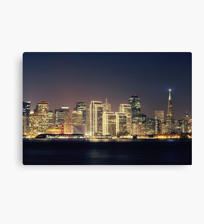 San Francisco Holiday Skyline IV Canvas Print
