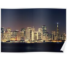 San Francisco Holiday Skyline IV Poster