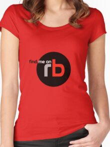 Find Me On rb Women's Fitted Scoop T-Shirt