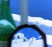 reflections of a greek island by JMDunworth
