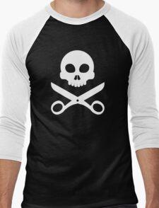 Skull and Scissors Men's Baseball ¾ T-Shirt
