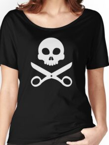 Skull and Scissors Women's Relaxed Fit T-Shirt
