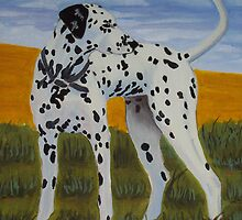 Dalmation dog oil painting by coolart