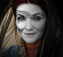 Catelyn Tully House Stark War Paint by HilaryHeffron