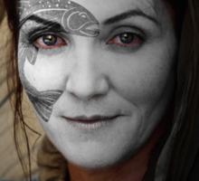 Catelyn Tully House Stark War Paint Sticker