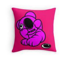 Missing Eye Teddy Bear Throw Pillow