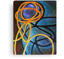 Nude shadow on blue curtain Canvas Print