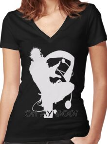 Jojo's Bizarre Adventure OH MY GOD!  Women's Fitted V-Neck T-Shirt