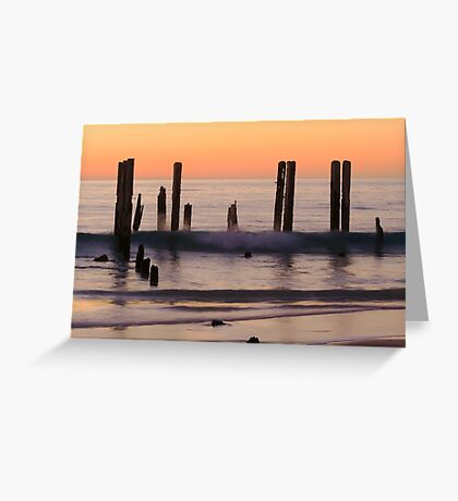 Sunset, Port Willunga beach Greeting Card
