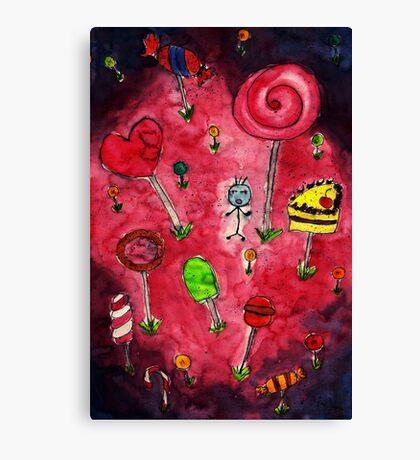Candy wonderland Canvas Print