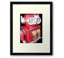 Red Robot Framed Print