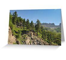 Logan Pass, Glacier National Park, Montana Greeting Card