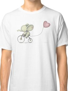 Cute Elephant riding his Bike Classic T-Shirt