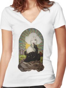 Clear Background Jinkx Monsoon Design Women's Fitted V-Neck T-Shirt