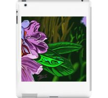 Tangled abstract of a purple flower iPad Case/Skin