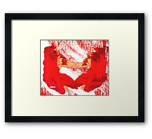 Crimson and Crystals Framed Print