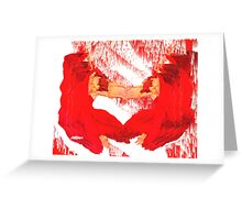 Crimson and Crystals Greeting Card