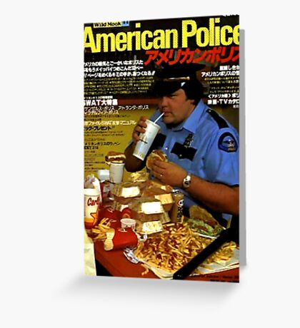 American Police Greeting Card
