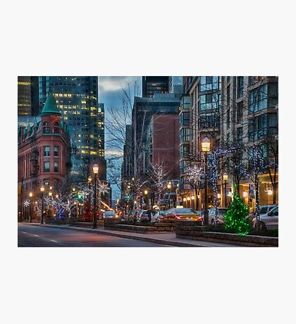 The St. Lawrence Market Area of Toronto at Holiday Time Photographic Print