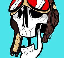 Aviator Skull by JawsDraws