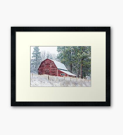 Snow Storm in the Palouse Framed Print