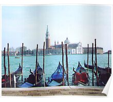 venice and gondolas Poster