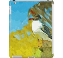 Laughing Gull on Florida Pier Abstract Impressionism iPad Case/Skin