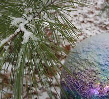 victorian gazing ball and small january snow by Laurkat