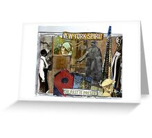 New York Spirit (the past is present) Greeting Card